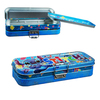 Lovely with beautiful printing rectangular shape colorful metal tin pencil box