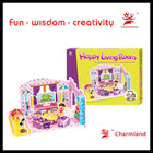 DREAM VILLA HAPPY LIVING ROOM paper board puzzle intelligence toy puzzle