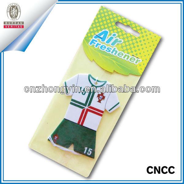 Football T-shirt customized paper car air freshener (ZY20-5550)