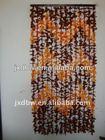 Bamboo Bead Brown Plastic Leaf Curtain