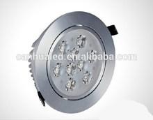 Fashionable high lumen cool white down light led 9W, 220V ceiling light led spotlight office