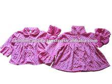 Children's Boutique clothes- Minky dot Swing coat-Re#90