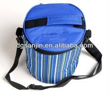 blue color oxford cooler bag