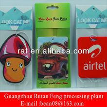 2013 unique custom paper air freshener/perfume card for toilet