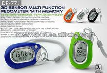 3D keychain mini digital counter/3-axis pedometer,OLED (DP-771)