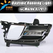 DRL 2x 6 LED 6000K Xenon White high Power Daytime Running Light Driving Lamp Bracket Kit fit for Mazda 12V Car Vehicle led