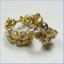 Stylish jewelry matte gold plated & CZ Rhinestone Fashion jewelry earrings 2014 Newest jewelry