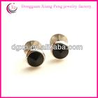 stainless steel crystal ear studs earrings for boys