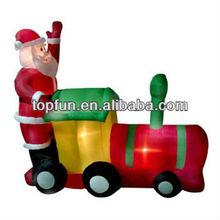inflatable Santa Claus train