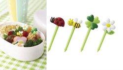 Food picks honey bee flowers 8pcs for lunch box japan kawaii bento