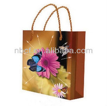 Promotional Butterfly With Flower Packaging PP Plastic Shopping Bags