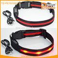 Recargable collares para mascotas intermitente led que brilla intensamente de perro productos para la venta caliente tz-pet6100u