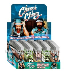 Cheech and & Chong Raving Cigarette Lighter Series A, 50 electronic refillable butane lighters
