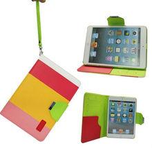 Hot Sale For IPad Mini Case ,Colorful PU Leather Case For IPad Mini