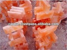 Solid Orange Crystal Rock Salt Bricks and Salt Blocks
