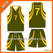 2013 sublimated fashion basketball wear