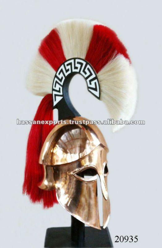 greek corinthian hoplite helmet