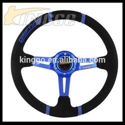 """14"""" Racing Deep Corn Suede Leather Drifting Steering Wheel"""
