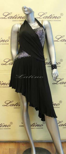 DANCE COSTUME LATIN SALSA COMPETITION DRESS (180875132392)