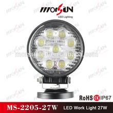 27W 12V&24V LED WORK LIGHT 4WD 4x4 Spot/Flood Car led work lamp