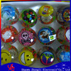 led glitter flashing ball rubber bouncing flashing ball with pp card