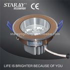 3w aluminum high quanlity water proof round shape ceiling light cover