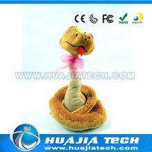 Ses kontrollü müzik büküm Yılan peluş hj045341 Ormanda oyuncak rc hayvan plastik hayvan oyuncaklar
