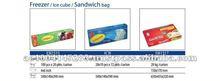 Transparent Food Packaging HDPE Plastic Freezer Bags