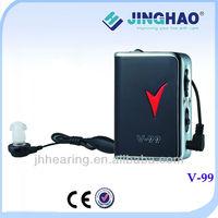 China rechargeable pocket body worn hearing aid warranty guaranteer