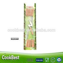 12 unids de carne de barbacoa pinchos / pinchos de metal / pincho de barbacoa in