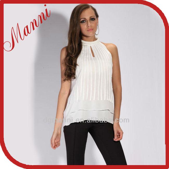 2013-2014 gasa blusa estilo patrón de la blusa blusa muslimah-XL ...