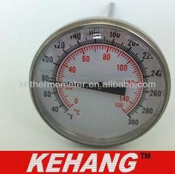 Dial round BBQ tea/milk /coffee thermometer