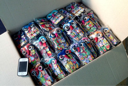 Beautiful and Cute colorful Patchwork Owl bag case handmade for iphone 5 Cheapest