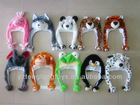 warm soft kids funny animal plush winter hats