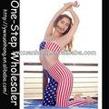 señora para mujer sexy de arte estrellas de la bandera de la tira de camuflaje leggins leggings pantalones apretados spandex polainas