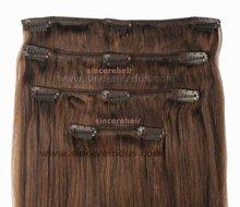 Clip in Hair Extensions, Clip on Hair Weft, 100% Human Hair