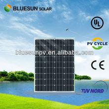 hot sale China origin high efficiency monocrystalline flexible solar panel 80w