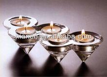 Glass Cone Multi Hole tea light candle holders wholesale