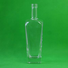 GLB740001 glass bottle 740ml liquor vodka tequila spirit flint glass wine bottle manufacture