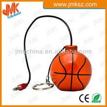 Portable mini basketball design Speaker for mobile phone,Rechargeable mini ball Speaker for mobile phone