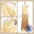 chiffon amarelo decalques projeto original vestido