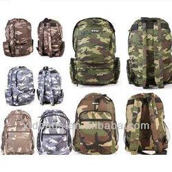 Camouflage Backpack Sports Camo Rucksack Men School Travel Bag Women Green