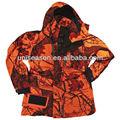 Hombres de naranja camo caza ropa de camuflaje