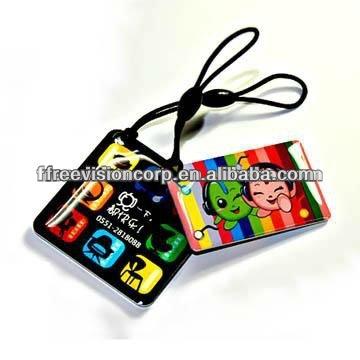 مصغرة بطاقة مخصصة رسومات مع nfc