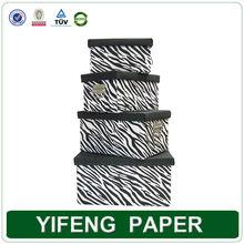 Pattern decorative paper zebra print pretty storage boxes with lids