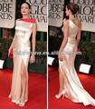 un raso de la línea de un hombro la longitud del piso de angelina jolie 2012 al globo de oro premios alfombra roja vestidos de celebrity
