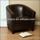 Leather Club Chair, Restaurant dining sofa (SP-HC116)
