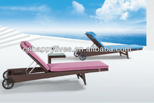 Happy Lives Popular New Design PE Wicker Resin Sun Lounger (HL-2092)