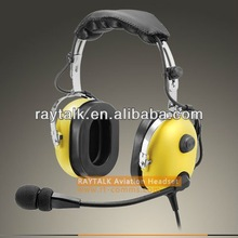 PNR Aviation Headset for Helicopter with Gel seal ear cup headset