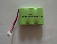 ni-mh 3.6v 2/3aa 600mah battery pack